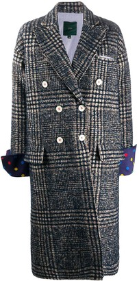 Jejia Plaid Double-Breasted Coat