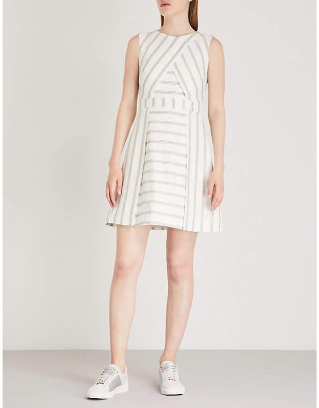 Ted Baker Cross-front linen dress