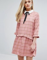 Sister Jane Smock Dress With Collar In Plaid