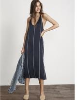 Faithfull The Brand Riptide Stripe Print Blanc Midi Dress