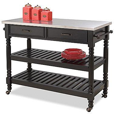 JCPenney Black Savannah Kitchen Cart