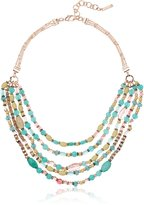 """Nine West Rose Gold-Tone and 16"""" Multirow Strand Necklace, 16"""" + 3"""" Extender"""