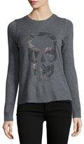 Zadig & Voltaire Beaded Skull Cashmere Sweater, Black