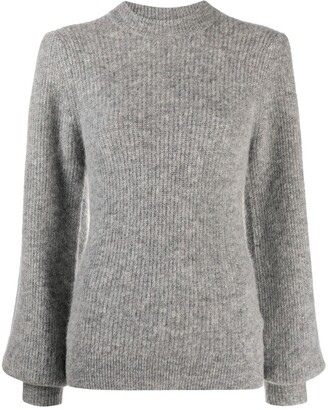 Ganni Bishop Sleeves Crew Neck Jumper