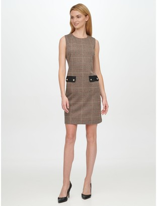 Tommy Hilfiger Essential Sleeveless Houndstooth Dress