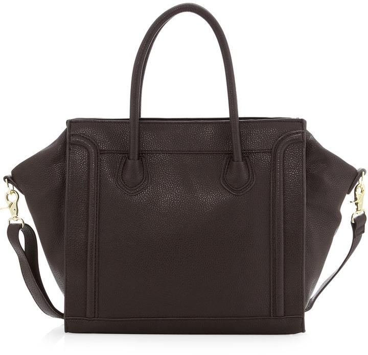 Neiman Marcus Seamed Tote Bag, Brown