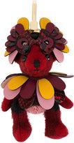 Burberry Thomas bear charm - women - Leather/Polyamide/Polyester/Cashmere - One Size