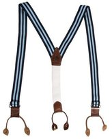 Vivienne Westwood Leather-Trimmed Striped Suspenders