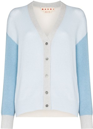 Marni Contrasting-Sleeve Buttoned Cardigan