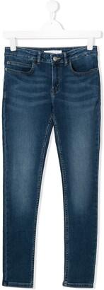 Calvin Klein Kids TEEN stonewashed tapered jeans