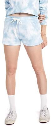 Alternative Cozy Lightweight French Terry Shorts (Purple Tie-Dye) Women's Shorts