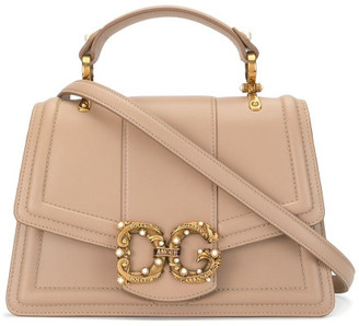 Dolce & Gabbana Amore Large Top Leather Handle Bag