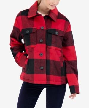 Sebby Junior's Buffalo Plaid Shirt Coat