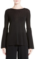 Fuzzi Women's Bell Sleeve Mesh Top