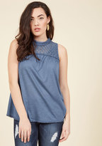 ModCloth Rainfall Recordings Sleeveless Top in L