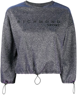 John Richmond Metallic Cropped Sweatshirt