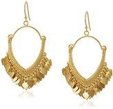 Satya Jewelry Gold Lotus Petals Chandelier Drop Earrings
