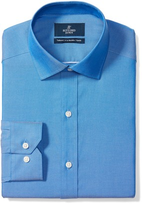 Buttoned Down Amazon Brand Men's Tailored Fit Spread-Collar Pinpoint Non-Iron Dress Shirt