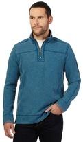 Mantaray Dark Turquoise Zip Neck Sweater