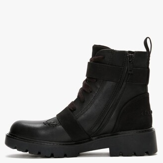 UGG Noe Black Leather Biker Boots