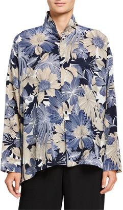 eskandar Silk Wide Long-Back Shirt