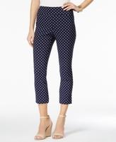 Charter Club Petite Cambridge Dot-Print Capri Pants, Created for Macy's