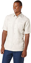 Cubavera Big & Tall Ramie/Rayon Short Sleeve Embroidered Guayabera