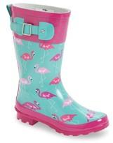 Western Chief Girl's Classic Flamingo Rain Boot