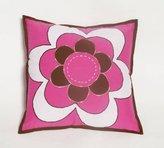 Bacati Damask Pink/Chocolate Decorative Pillow