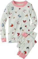 Hanna Andersson Light Green Flutter & Float Organic Cotton Long John Pajama Set