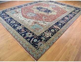 """R & E Darby Home Co One-of-a-Kind Fairburn Heriz Re Creation Hand-Knotted 12' x 15'1"""" Wool Red Area Rug Darby Home Co"""
