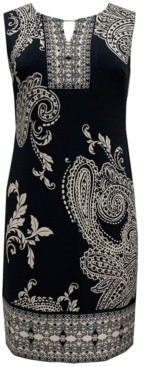 JM Collection Petite Paisley-Print Sheath Dress, Created for Macy's