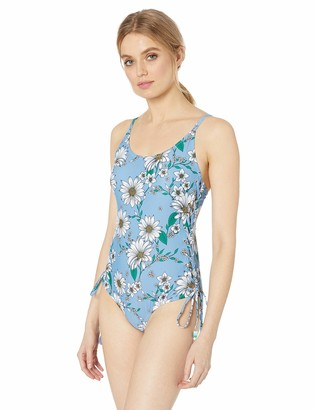 Jessica Simpson Women's Lace-up One-Piece Swimsuit