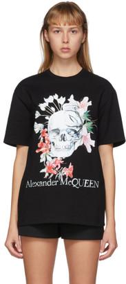 Alexander McQueen Black Romantic Skull T-Shirt