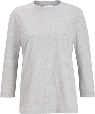 Collection Weekend By John Lewis Collection WEEKEND by John Lewis Foil Flower Top, Grey/Silver
