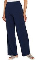 Denim & Co. As Is Beach Reg. Wide Leg Pull-On Knit Cargo Pants