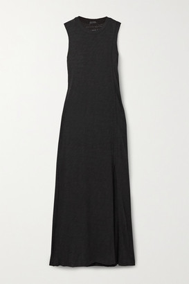 ATM Anthony Thomas Melillo Slub Cotton-jersey Midi Dress - Black