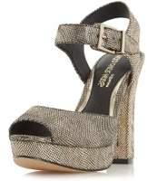 Dorothy Perkins Womens *Head Over Heels 'Myli' Gold High Heel Sandals