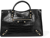 Balenciaga Giant 12 City Croc-effect Leather Tote - Black