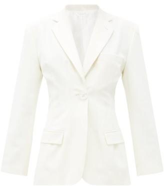 ATTICO Donna Single-breasted Wool-blend Jacket - Cream