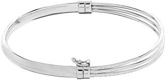 Sterling Silver Tiered Bangle Bracelet