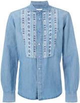 Ermanno Scervino aztec bib denim shirt