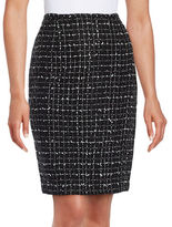 Karl Lagerfeld Paris Tweed Pencil Skirt