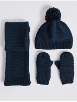 Marks and Spencer Kids' Hat,Scarf And Mittens Set