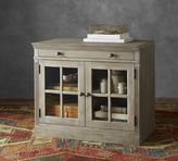 Pottery Barn Livingston Double Glass Door Cabinet