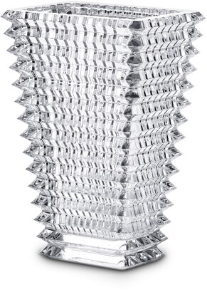 Baccarat Small Rectangular Eye Lead Crystal Vase