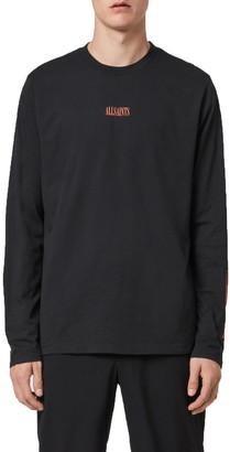 AllSaints Vertice Long Sleeve Logo Graphic Tee