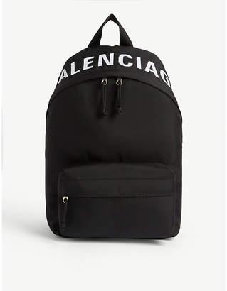 Balenciaga Wheel woven backpack
