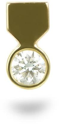 Lena Cohen Fine Jewellery 18k Yellow Gold Medal Diamond Piercing Stud