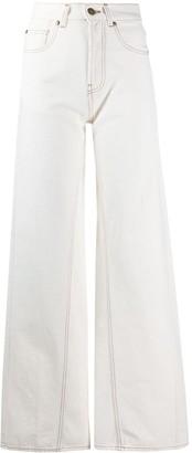 Erika Cavallini High-Waisted Flared Trousers